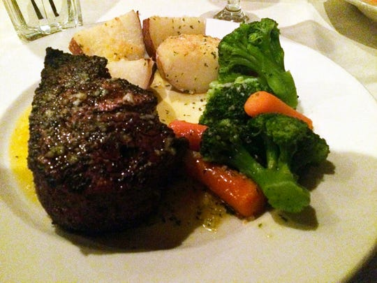 """""""The best filet in Central Indiana"""" at La Trattoria (201 N. Madison Ave., Greenwood) is part of Amy Haneline's perfect weekend."""