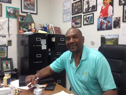 "Darius ""Pete"" Cunningham sits in his office at the"