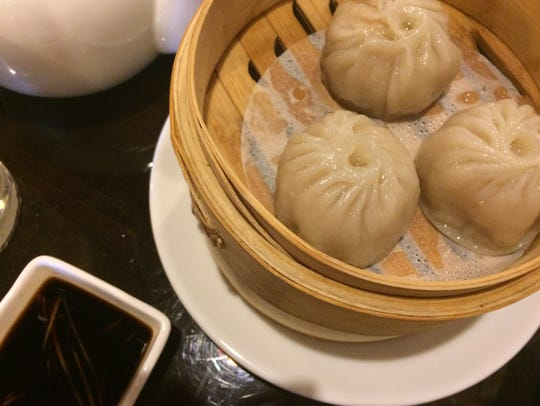 Soup dumplings from Ginger Bistro in Fort Myers.