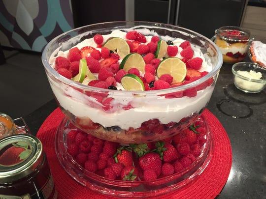 Strawberry Mixed Fruit Trifle