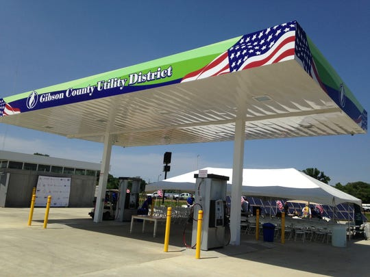 The natural gas refueling station in Trenton opened