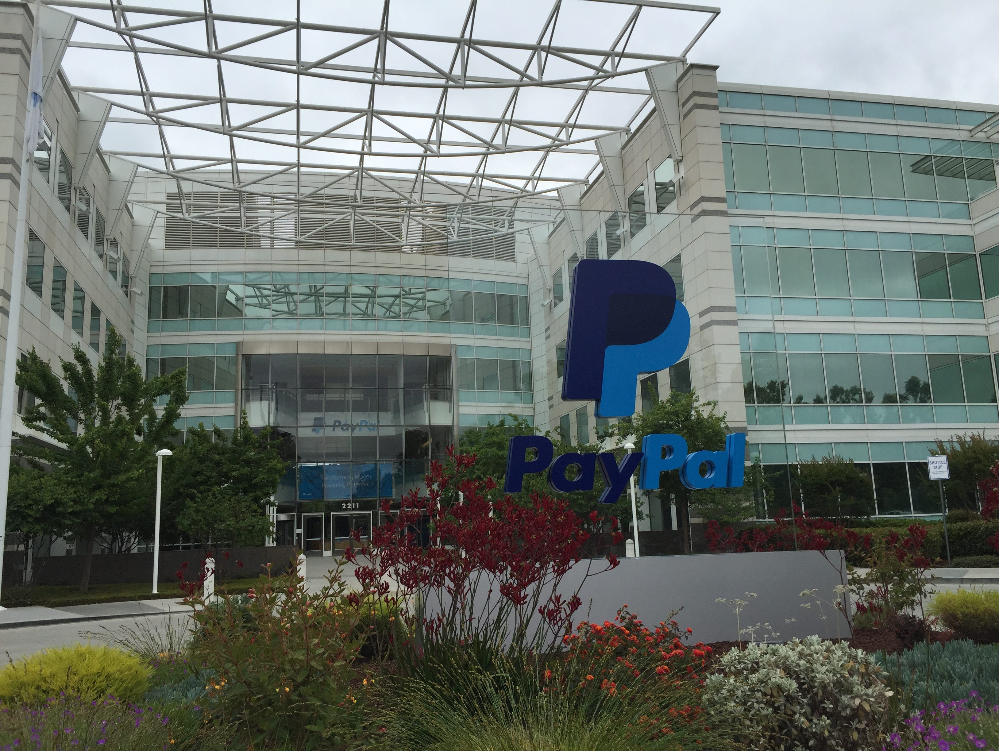 PayPal's headquarters remain near eBay in the heart of San Jose, Calif.