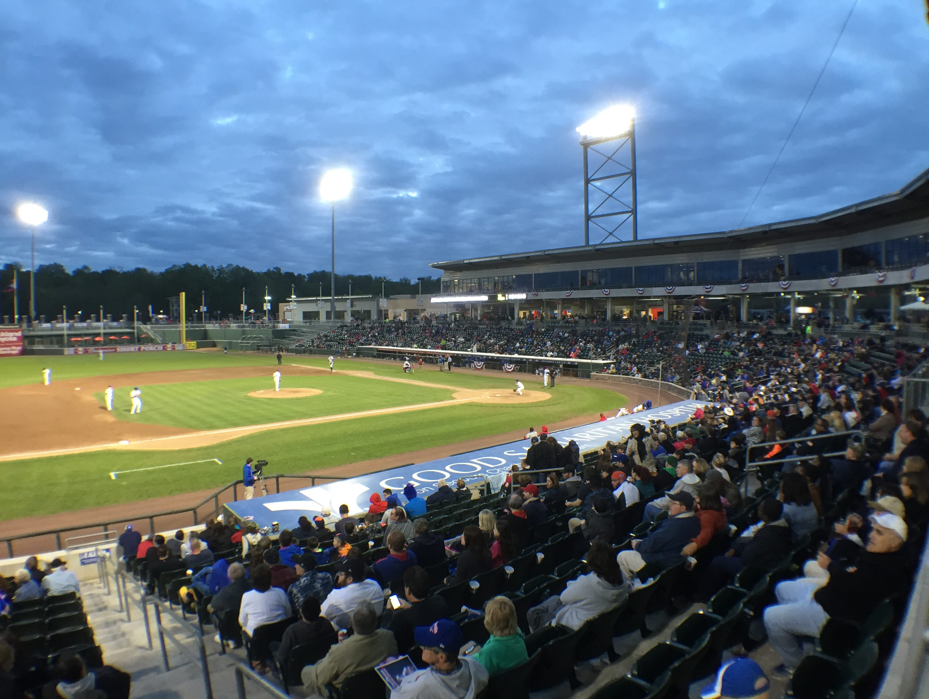 The Rockland Boulders played the Trois-Rivieres Aigles during their season opener at Provident Bank Park May 21, 2015.