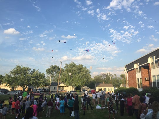Mourners gathered on Wednesday night to remember Courtney