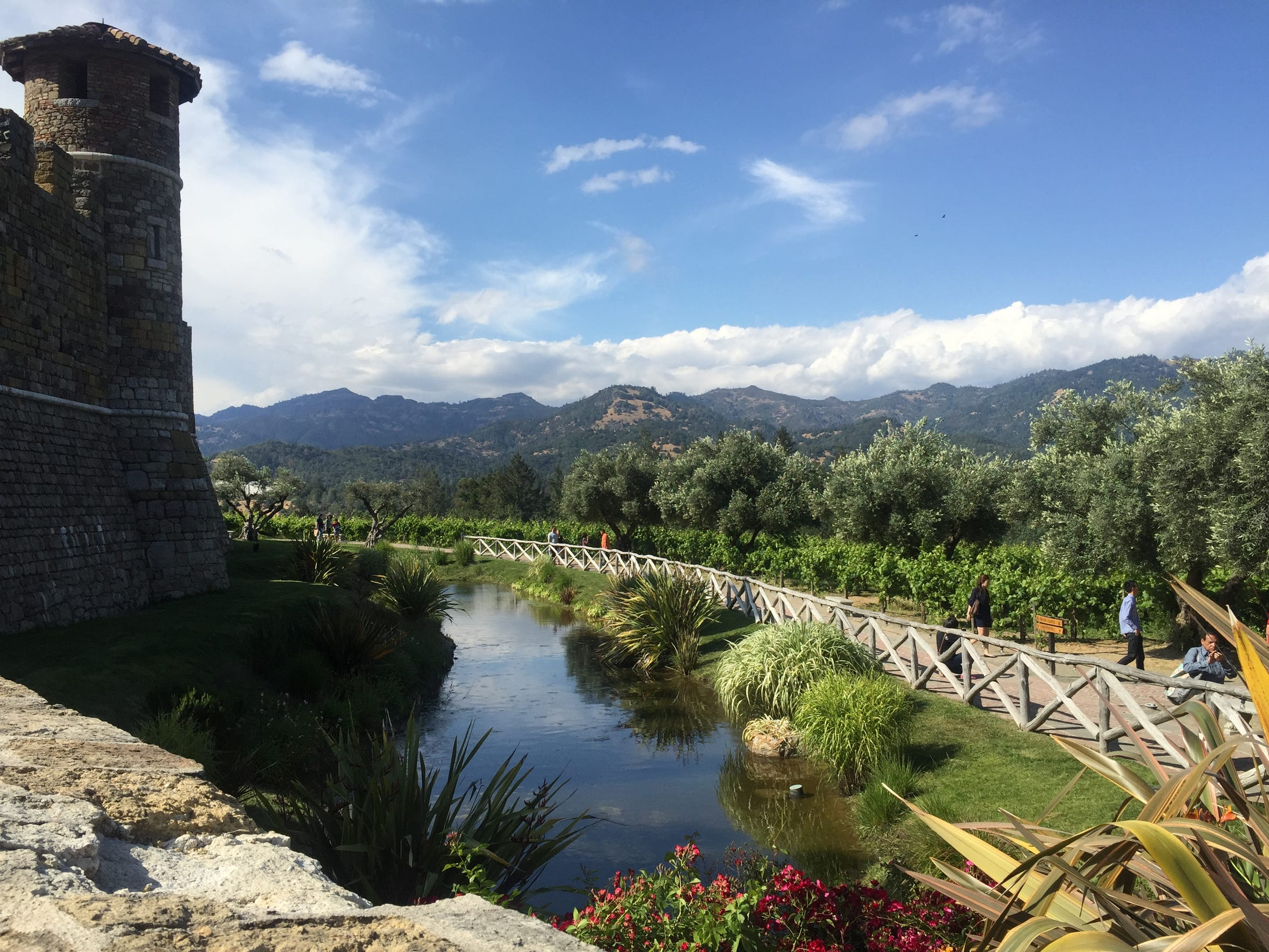 Slip back into 13th century Tuscany at Castello di Amorosa, which offers tastings in its cellar and tours of the 170-acre property that boasts a scenic stream and lake