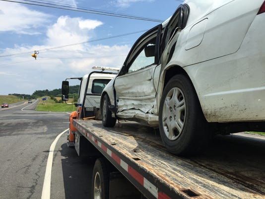 Two collide at Springhill Road-Route 262 intersection