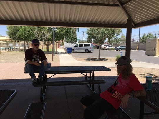 Michael Williams and Brad Dickherber talk about living on the streets and surviving the heat in Phoenix.