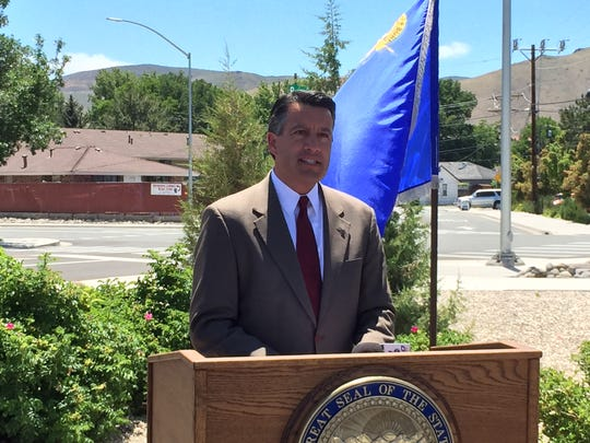 Gov. Brian Sandoval announces the Nevada Electric Highway, a network of charging stations across U.S. Route 95 that will make it possible to drive between Reno and Las Vegas with an electric car.