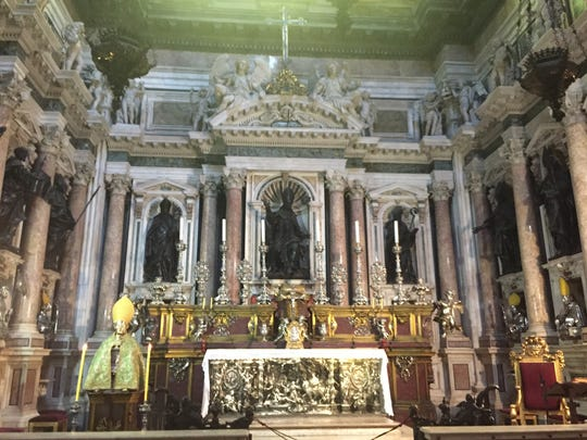 Naples Cathederal, home to the Crypt and Chapel of