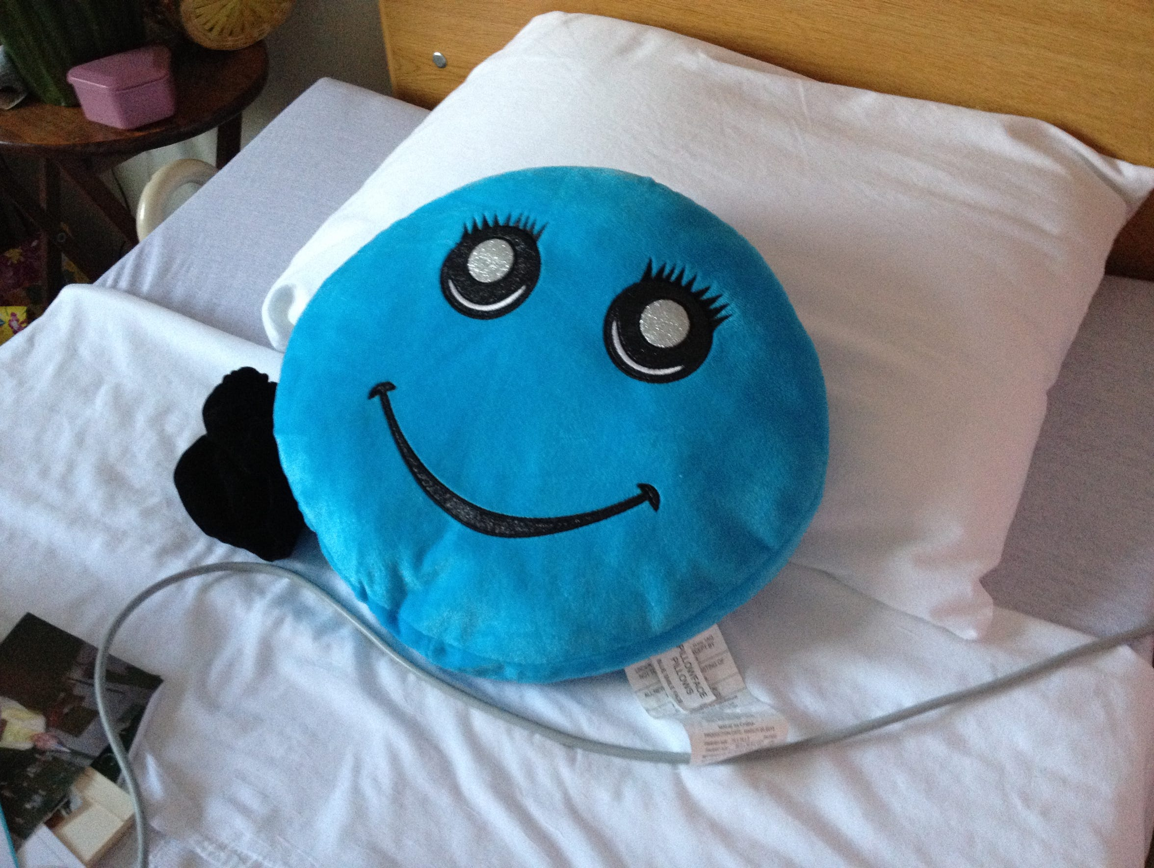 The pillow on Helen Hugo's bed at Meadowview Nursing