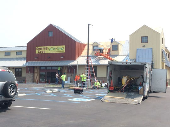 Construction continues on the Fresh Thyme at 3400 E.