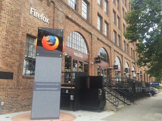 The outside of Mozilla's headquarters on 2 Harrison