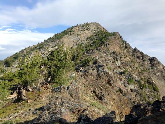 A view of Rock Creek Butte, tallest peak in the Elkhorn
