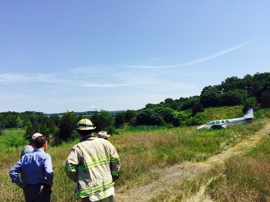 The 2-passenger plane that crashed at Dutchess County Airport on Saturday.