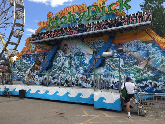 Moby Dick ride at the Montana State Fair.