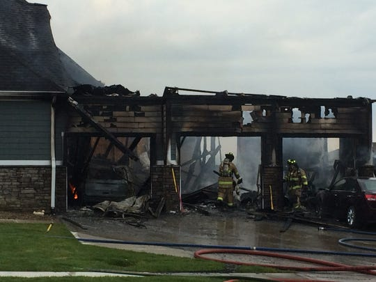 A fire burned through a home on Sugar Creek Drive in Waukee Monday morning.