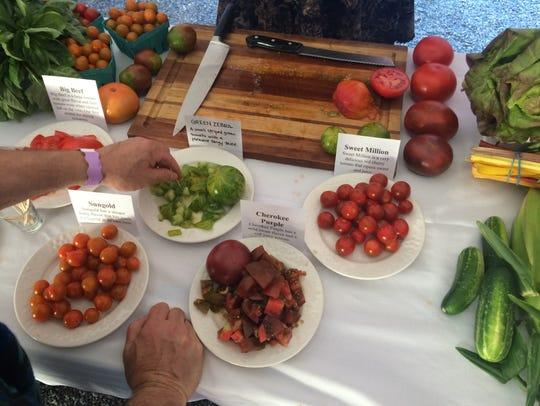 Tomato tasting from Lewis Creek Farm in Starksboro