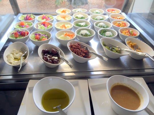 The salad bar at the Lamana Hotel in Port Moresby,