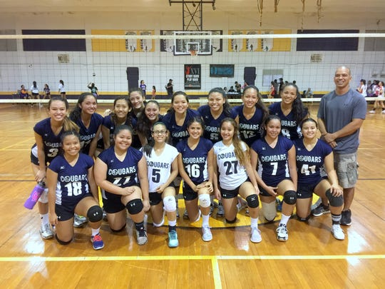 The Academy of Our Lady of Guam Cougars finished 4-0 at the Shieh Invitational Volleyball tournament Saturday at the G.W. gym.