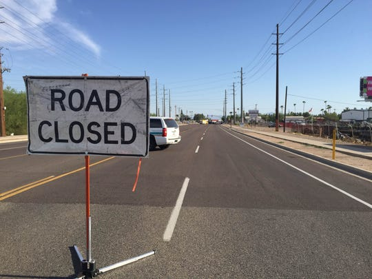 Roads in the area were closed as authorities investigated the crash.