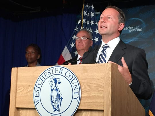 Rob Astorino at a Friday news conference discussing