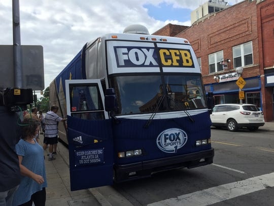 Fox Sports' Jim Harbaugh  bus