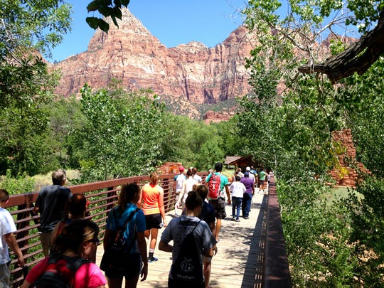 Crowds are flocking in record numbers to Zion National