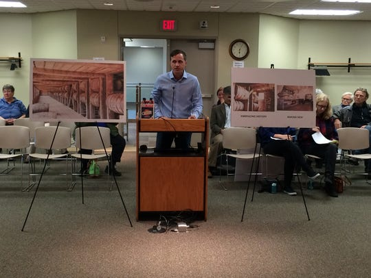 Ryan Schabach presents his ideas for the Sturgeon Bay