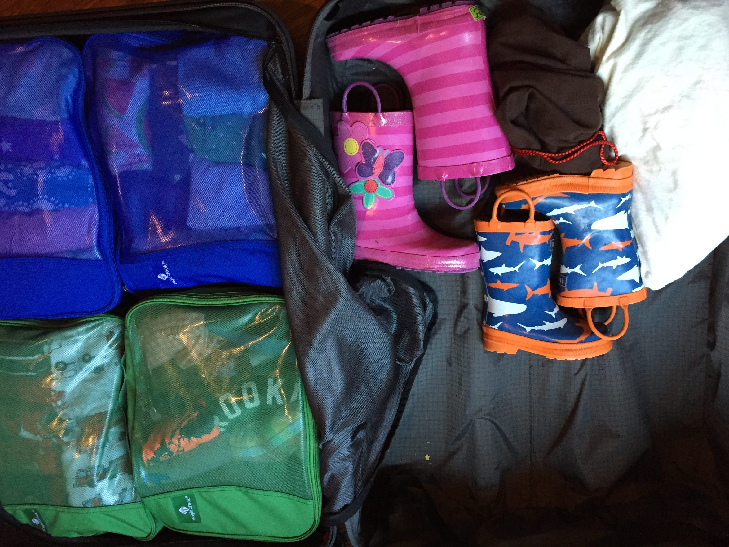 The family allowed themselves only two suitcases on