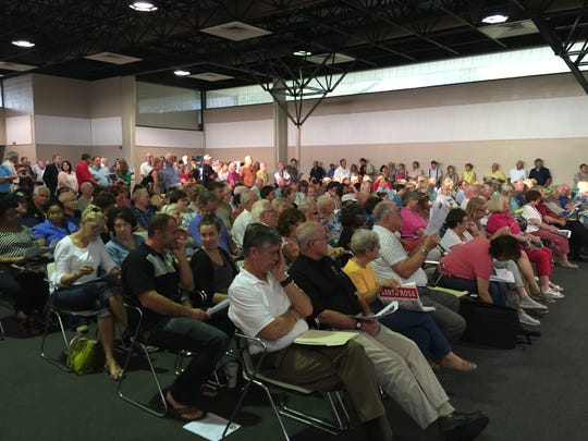 The public turned out to give their input on U.S. 90 work in Milton.