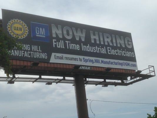 UAW-GM billboard