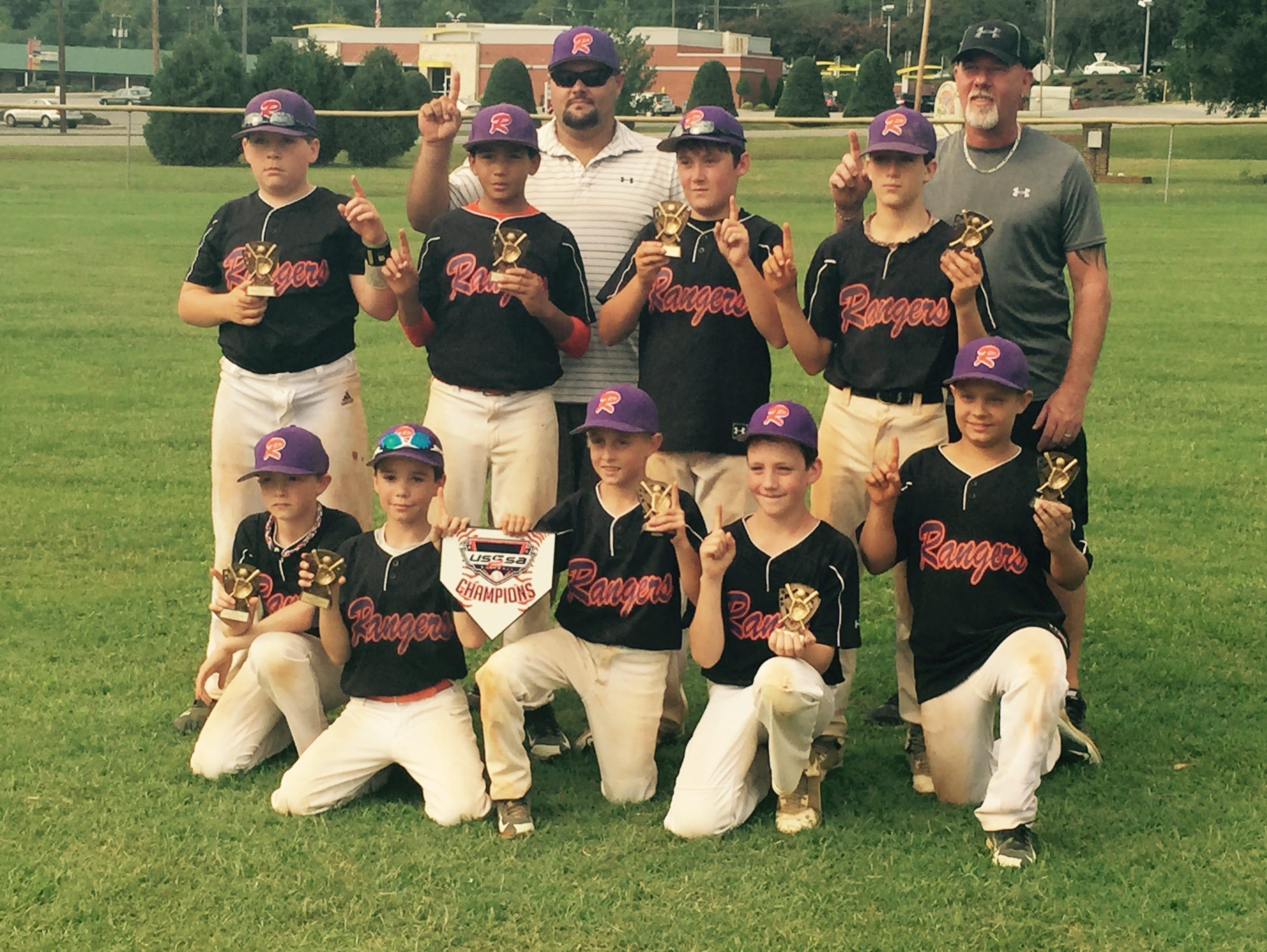 The Blue Ridge Rangers 12U baseball team.
