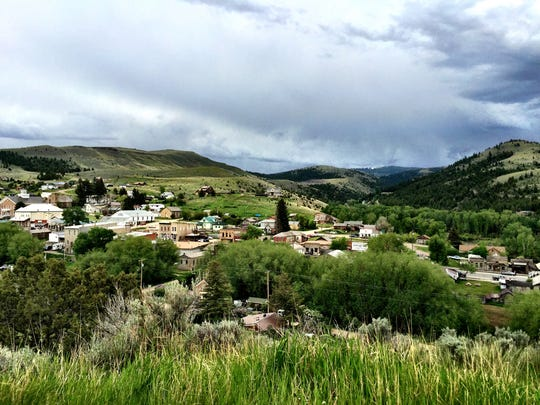 Virginia City from Boot Hill