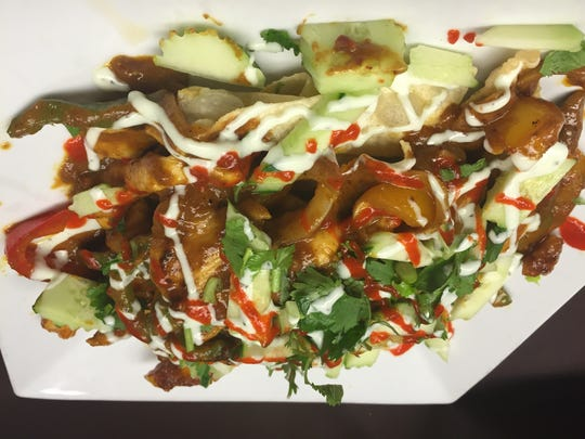 Basil's Asian Nachos are a new addition to the Weston restaurant's menu.