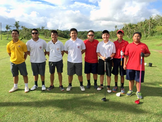 The Father Duenas Friars took on the St. John's Knights in IIAAG Golf on Tuesday at the Guam International Country Club in Dededo. The Knights won the match to remain undefeated while the Friars fell to 2-1.