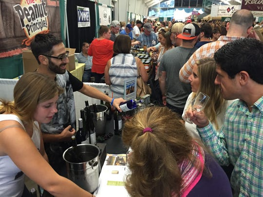 Staff at Robibero Winery in New Paltz offer samples