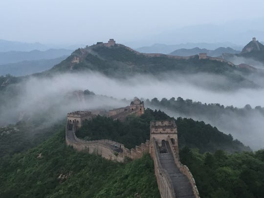 A portion of the Great Wall of China. produced a bumper