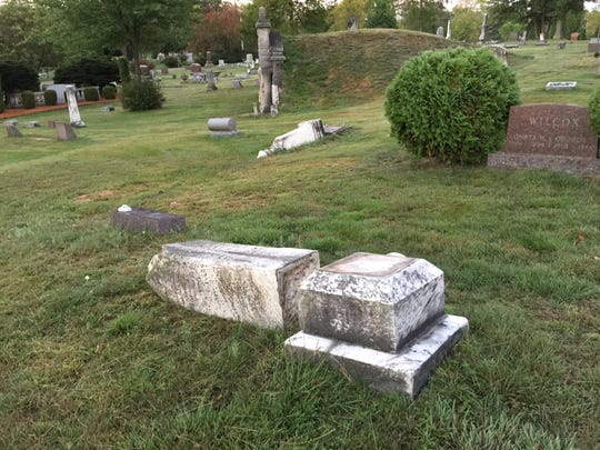 Police say someone tipped over between 50 and 100 tombstones in Wisconsin Rapids.