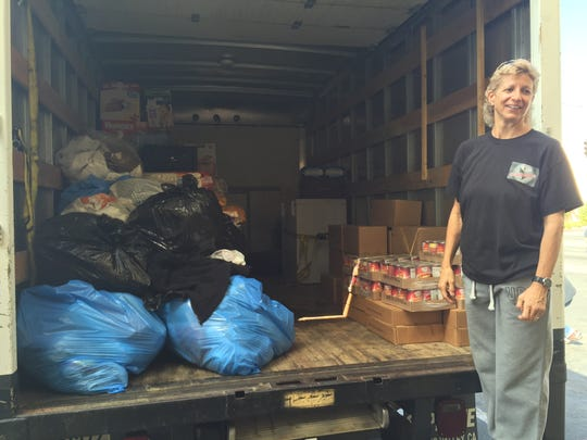Fran Richardson is making the trek to California to drop off supplies for the Valley Fire. Richardson asked everyone to make donations to St. Vincent's Food Pantry so she could continue delivering supplies.