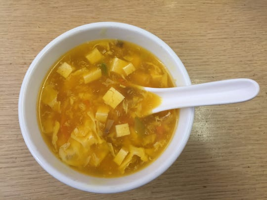 On a recent visit to Asian Noodles, egg drop is the soup  that's part of the $7.95 lunch special.