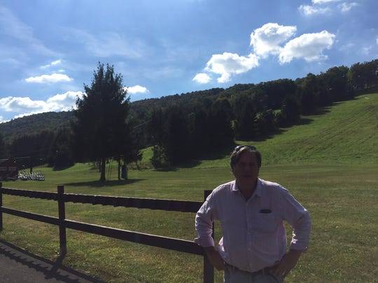 Toggenburg owner Jim Hickey poses outside the resort's