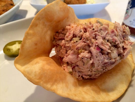 At Blue Dog on Matlacha, the smoked fish dip is often