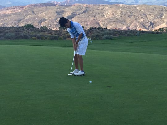 Dixie's Kosuke Aoki finished in third at Sky Mountain on Wednesday. Pine View's Noah Schone took home the individual title, his second of the season.