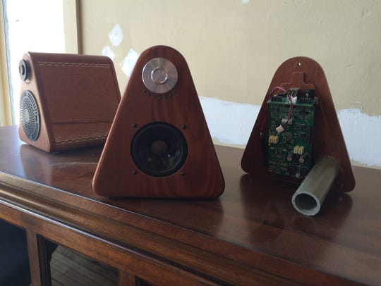Princeton Audio hand-crafts portable speakers mostly