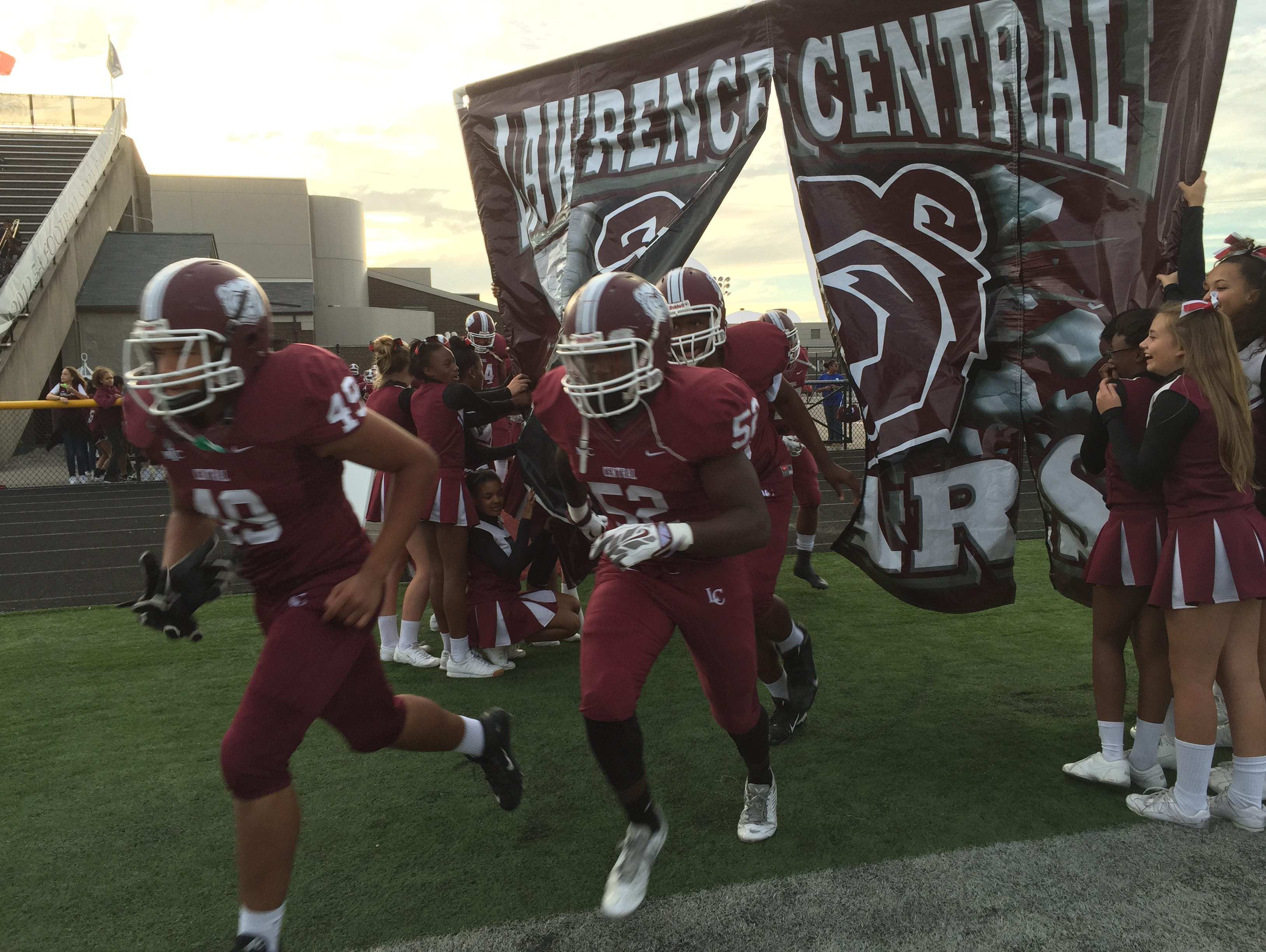 Center Grove at Lawrence Central football