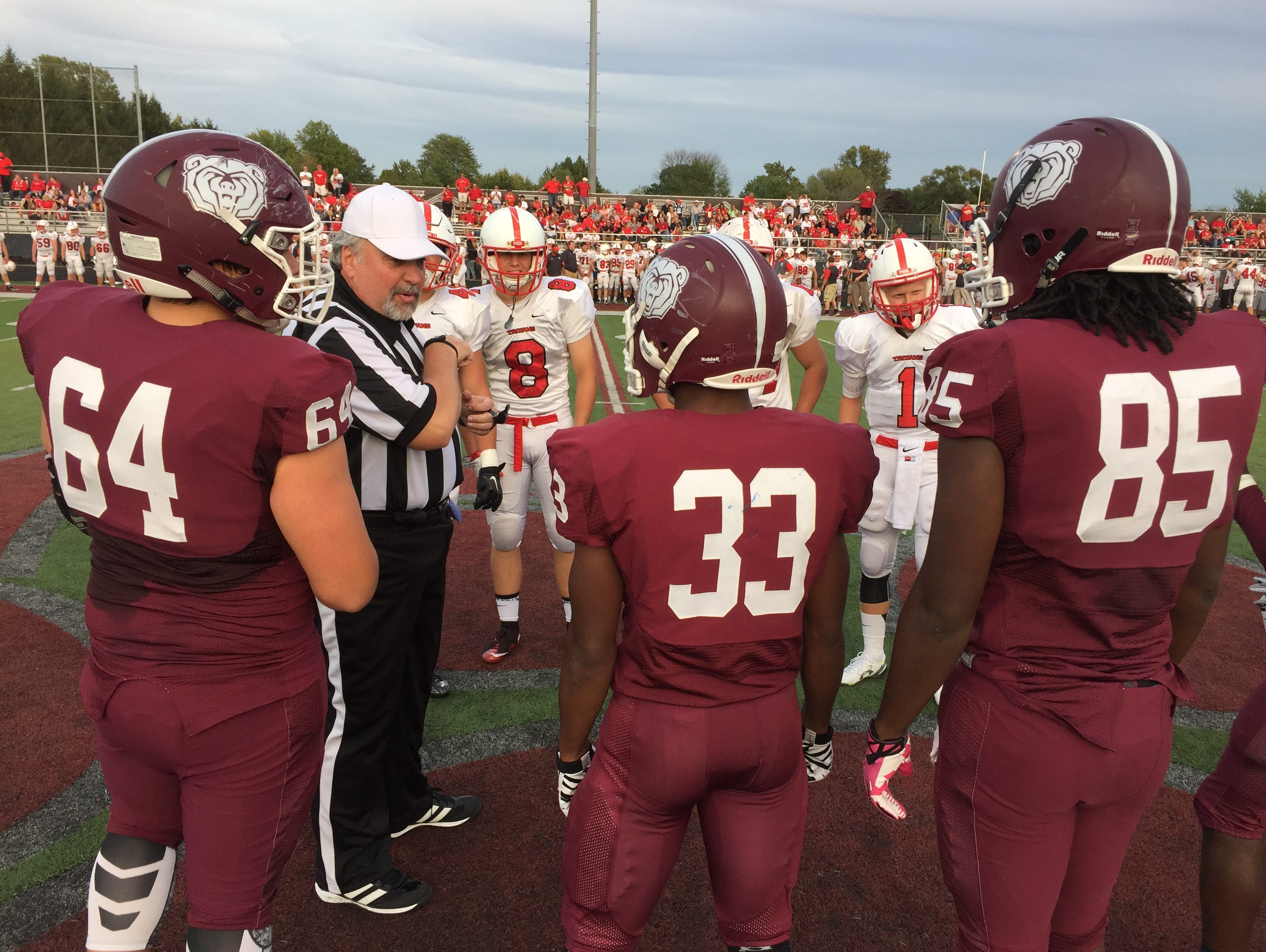 Coin-flip at Center Grove-Lawrence North