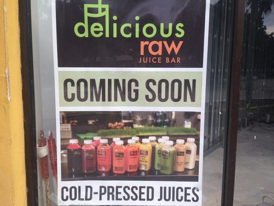 Delicious Raw juice bar is coming to Naples, joining the growing list of cold-pressed juices in the area.