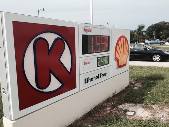 Regular unleaded gas was available for under $2 a gallon Monday at this gas station at U.S. 41 and Strike Lane in Bonita Springs.