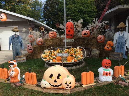 "Bonita and Mike Wolosek's yard is decorated for the annual ""Fright for Life' Halloween Aid benefit on Oct. 25."