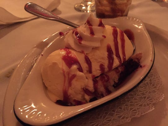 The desserts were the hit of the meal at Walter's Steakhouse.